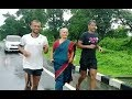 Milind Soman's mother joins him barefoot in a saree for marathon