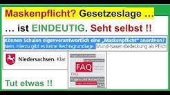 Maskenpflicht: Wie ist die Gesetzeslage in Niedersachsen? Eindeutig.