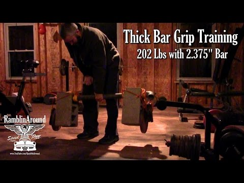 Thick Bar Grip Training Lifts - 202 Lbs or 91.6 KG - Weight Training