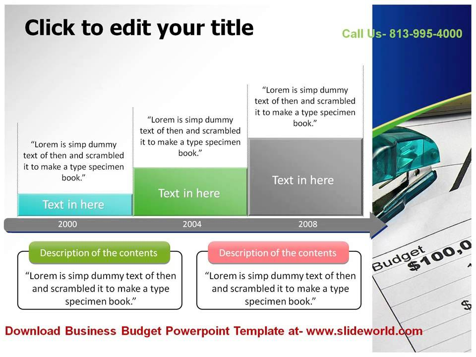 Business Budget Powerpoint Templates - YouTube