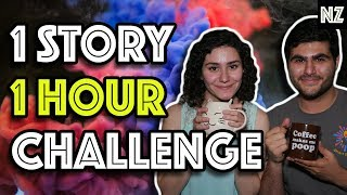 We Came Up With An Entire Story In One Hour Writing Challenge   Writing Vlog