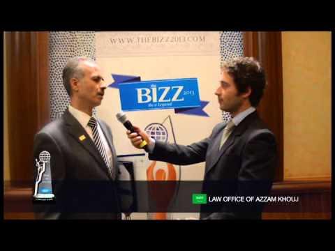 THE BIZZ 2013 -  INTERVIEW LAW OFFICE OF AZZAM KHOUJ