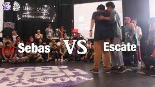 Keep Fresh Session 2016/ Hip Hop Dance/ 1er Ronda/ Sebas vs Escate
