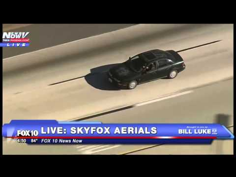FNN: Full car chase in Palmdale, CA - Suspect Surrenders