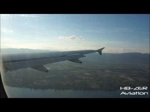 Airbus A320 British Airways - Approach, Landing, Taxi & Shutdown at Geneva from London Heathrow