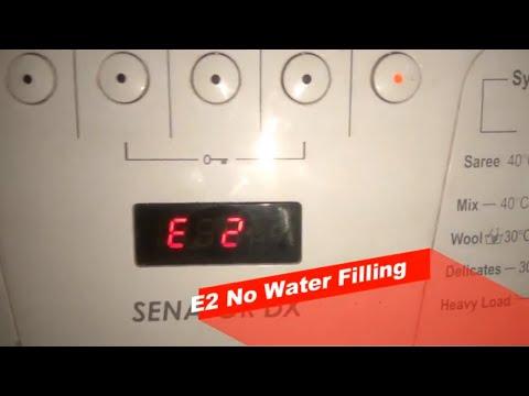 IFB Senator DX Front Load Washing Machine Error Codes