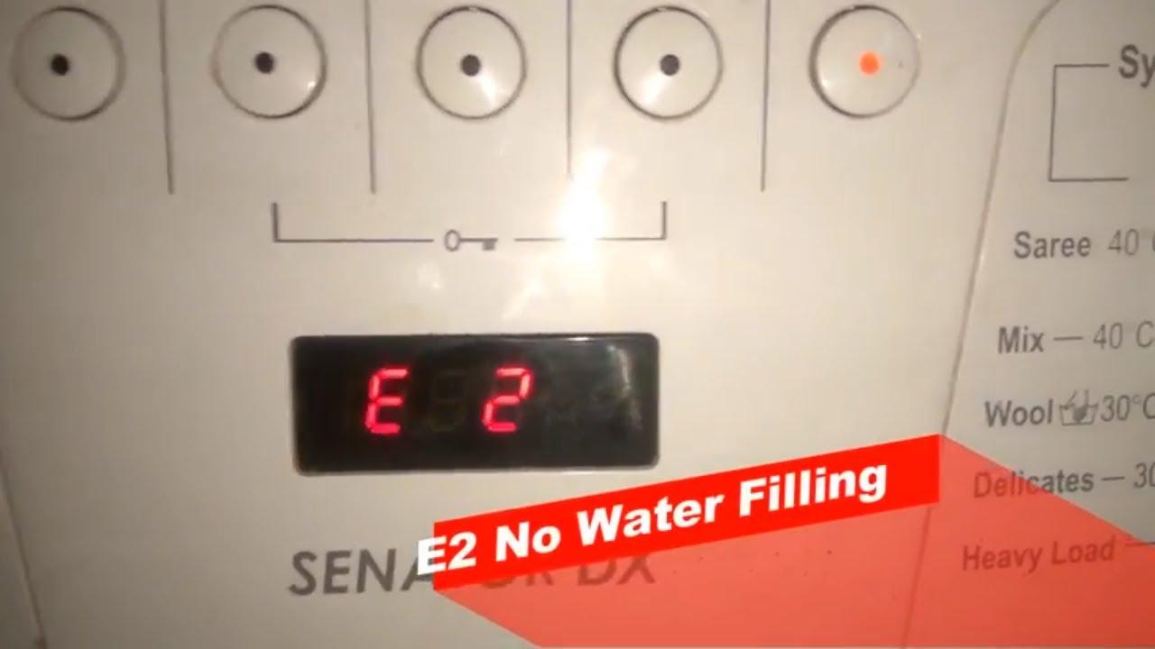 IFB Senator DX Front Load Washing Machine Error Codes   Repair Help