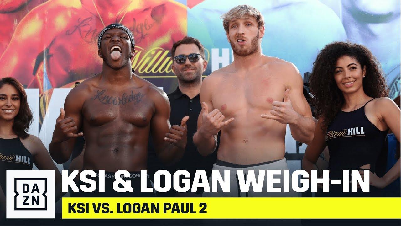 KSI vs Logan Paul - WEIGH IN - YouTube