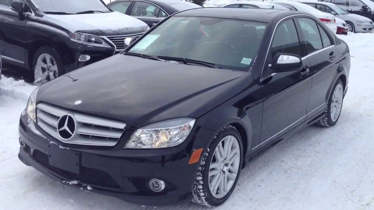 pre owned black 2009 mercedes benz c class 4matic alberta youtube. Black Bedroom Furniture Sets. Home Design Ideas