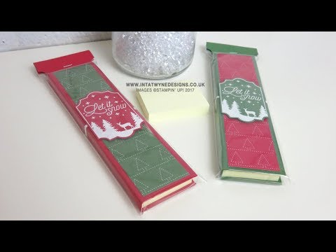 Crafty Christmas Countdown #11 -  Quilted Christmas Mini Post It Note Book