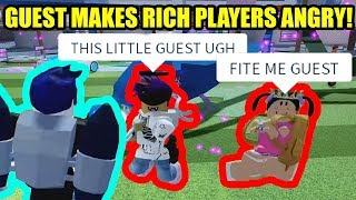 GUEST makes RICH JAILBREAK PLAYERS ANGRY! | Roblox Jailbreak
