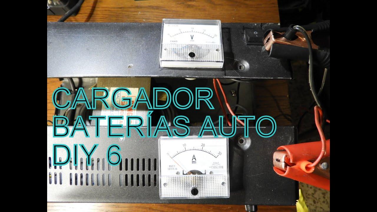 CARGADOR DE  BATERÍAS CASERO 6 DIY CAR BATTERY CHARGER 6