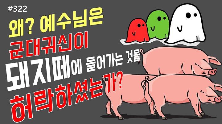 #322 왜 예수님은! 군대귀신이 돼지떼에 들어가는것을 허락하셨는가?? 2000마리 돼지떼를 죽게하셨는가?