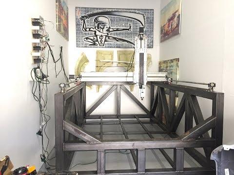 *IT'S ALIVE!* LARGE DIY 3 Axis LONG Z CNC Milling Machine Build
