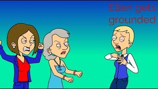 Ellen Degeneres scares Sarah Paulson then gets grounded