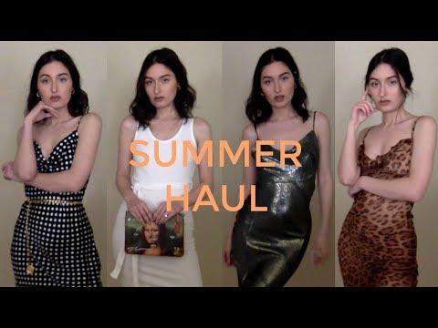 HUGE SUMMER HAUL + TRY ONS (Realisation Par, Re/done, Reformation)   Sabina Fulmer