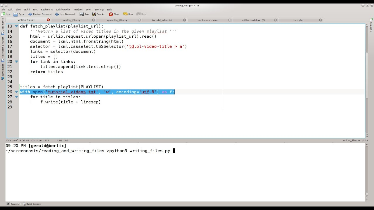 Python 3 Tutorial - Reading and Writing Files - YouTube