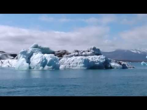 Massive Iceberg Capsizing at Jokulsarlon in Iceland