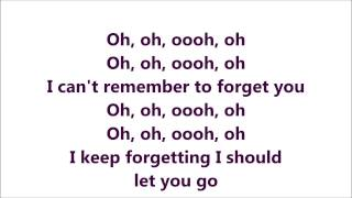 Repeat youtube video Rihanna ft Shakira - Can't Remember To Forget you (Official lyrics) HD
