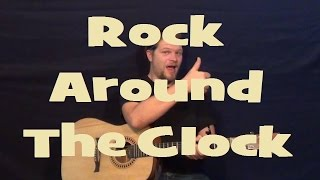 Rock Around The Clock (bill Haley) Easy Strum Guitar Lesson Chord How To Play Tutorial Licks