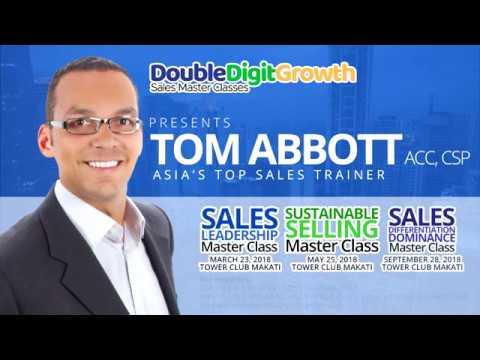 Asia's Top Sales Leader Tom Abbott in the Philippines 2018 - DoubleDigitGrowth Sales Seminar