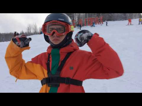 Горнолыжная база Губаха. Катание на сноубордах. Gubaha Snowboarding.