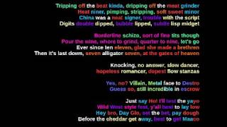 MF DOOM - Meat Grinder - Rhymes Highlighted