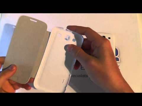 Samsung Galaxy S3 Ceramic White Flip Cover Unboxing & Demonstration