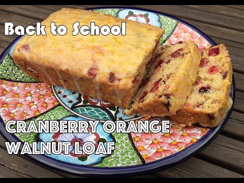 Cranberry Orange Walnut Loaf | VEGAN | Perfect for Back to School