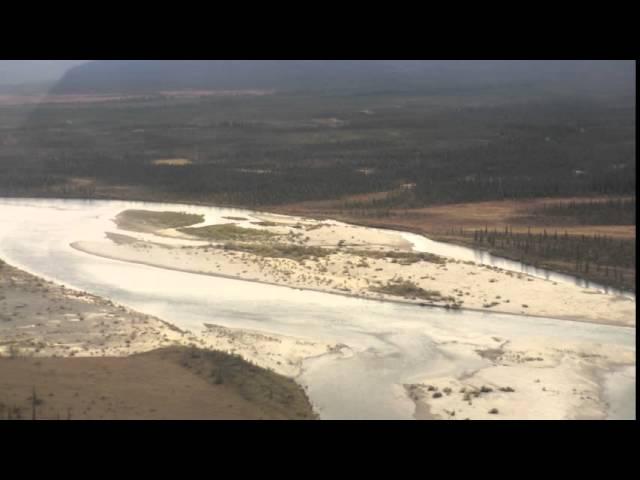 Plane ride over the tundra from Kotzebue, Alaska to Kobuk Valley National Park
