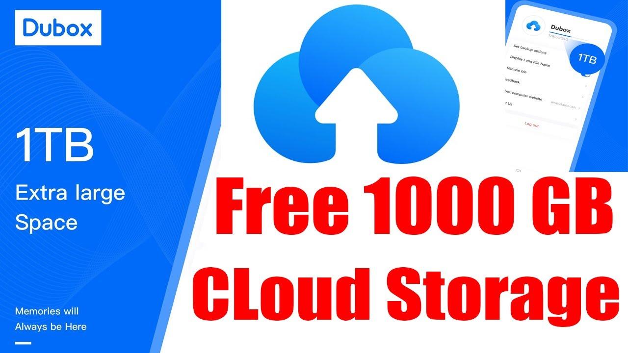 Get Free Cloud Storage 1000gb Dubox Cloud Storage Youtube