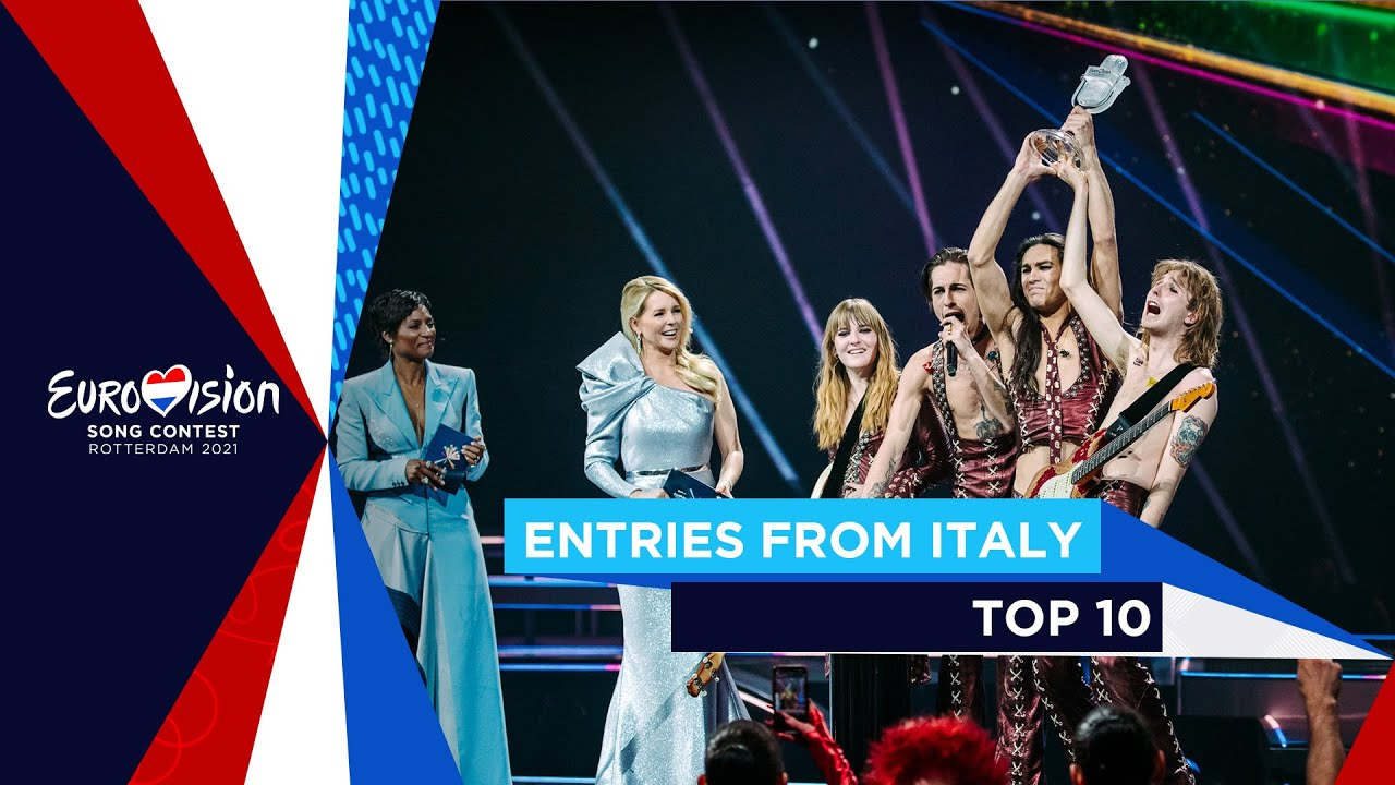 TOP 10: Entries from Italy 🇮🇹 - Eurovision Song Contest 2021