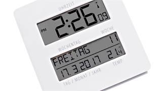 Produktvideo zu Funkuhr TimeLine mit Temperaturanzeige Weiß
