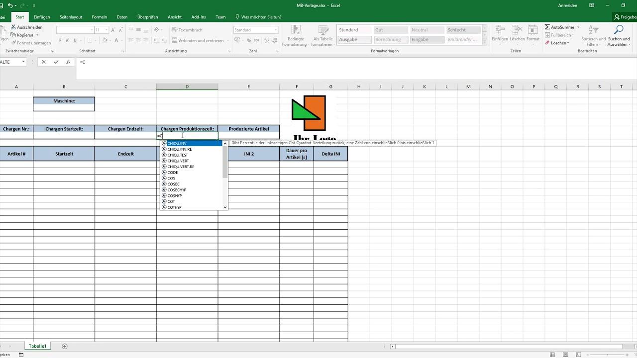 Erstellen einer Excel-Vorlage für den SPSDataReader - YouTube