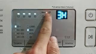 Samsung Çamaşır Makinesi, Uyarı Sesi Açma Kapama İşlemi