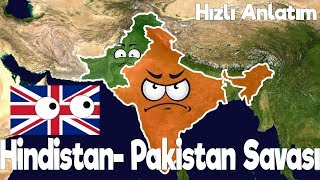 İndia - Pakistan Wars - Expression on the Map (kashmir problem)