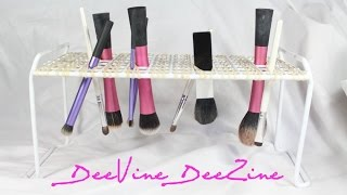 Diy:  Cosmetic Brush Drying Tree (under $6)