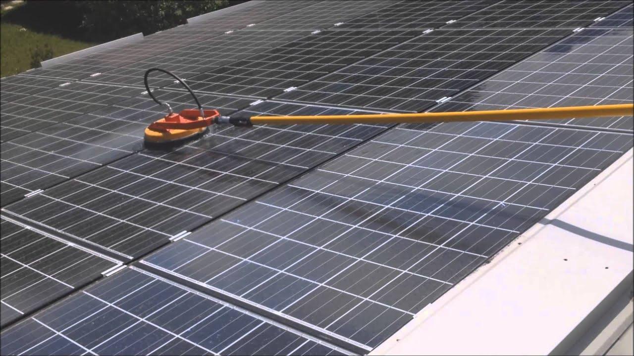 Pulizia impianti fotovoltaici - R.M. Solar Service - YouTube