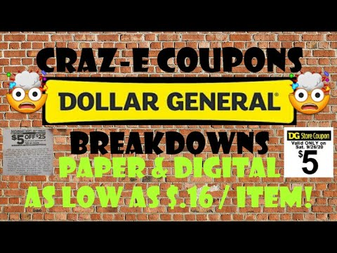 🤯$.16/ ITEM!🤯DOLLAR GENERAL $5 OFF $25 BREAKDOWNS🤯9/26/20