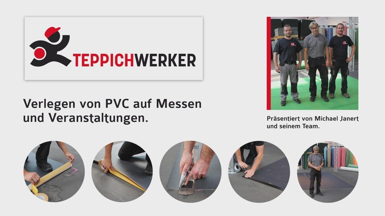 Großartig 2D Film: Verlegen von PVC auf Messen & Events - Teppichwerker.de  VR64