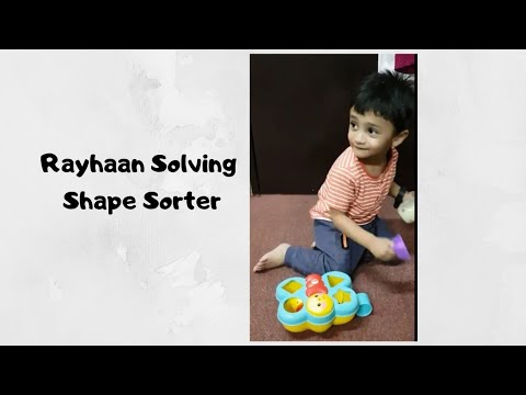 Fisher-Price Butterfly Shape Sorter / Rayhaan 21 Months - Puzzle Activity