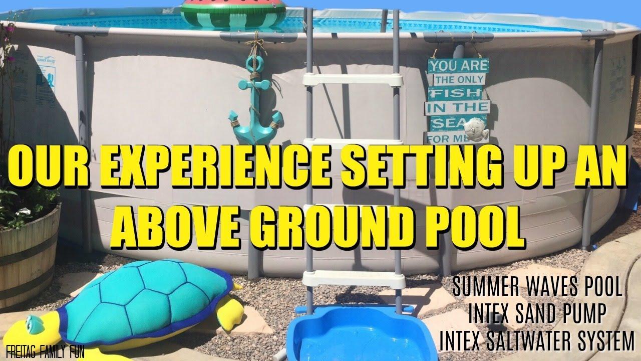 Above Ground Pool Set Up Summer Waves Bestway Intex