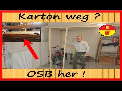 OSB-Wand zimmern ? So einfach gehts ! Teil 1