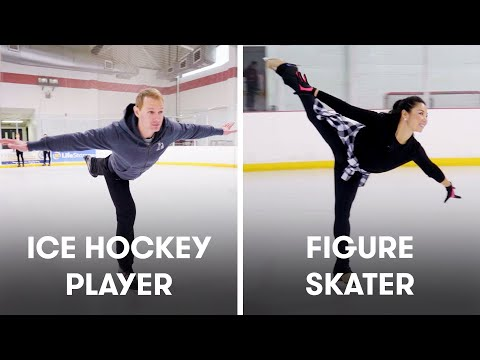 Hockey Players Try To Keep Up With Figure Skaters | SELF