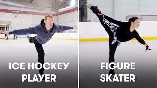 Download Hockey Players Try To Keep Up With Figure Skaters | SELF Mp3 and Videos