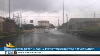 NUOVA ALLERTA METEO IN SICILIA. PREVISTI ANCHE URAGANI, GRANDINE  E VENTO FORTE