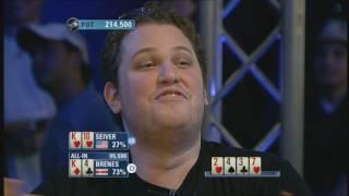 Poker Etiquette - Brenes over celebrating Poker Hand - PokerStars
