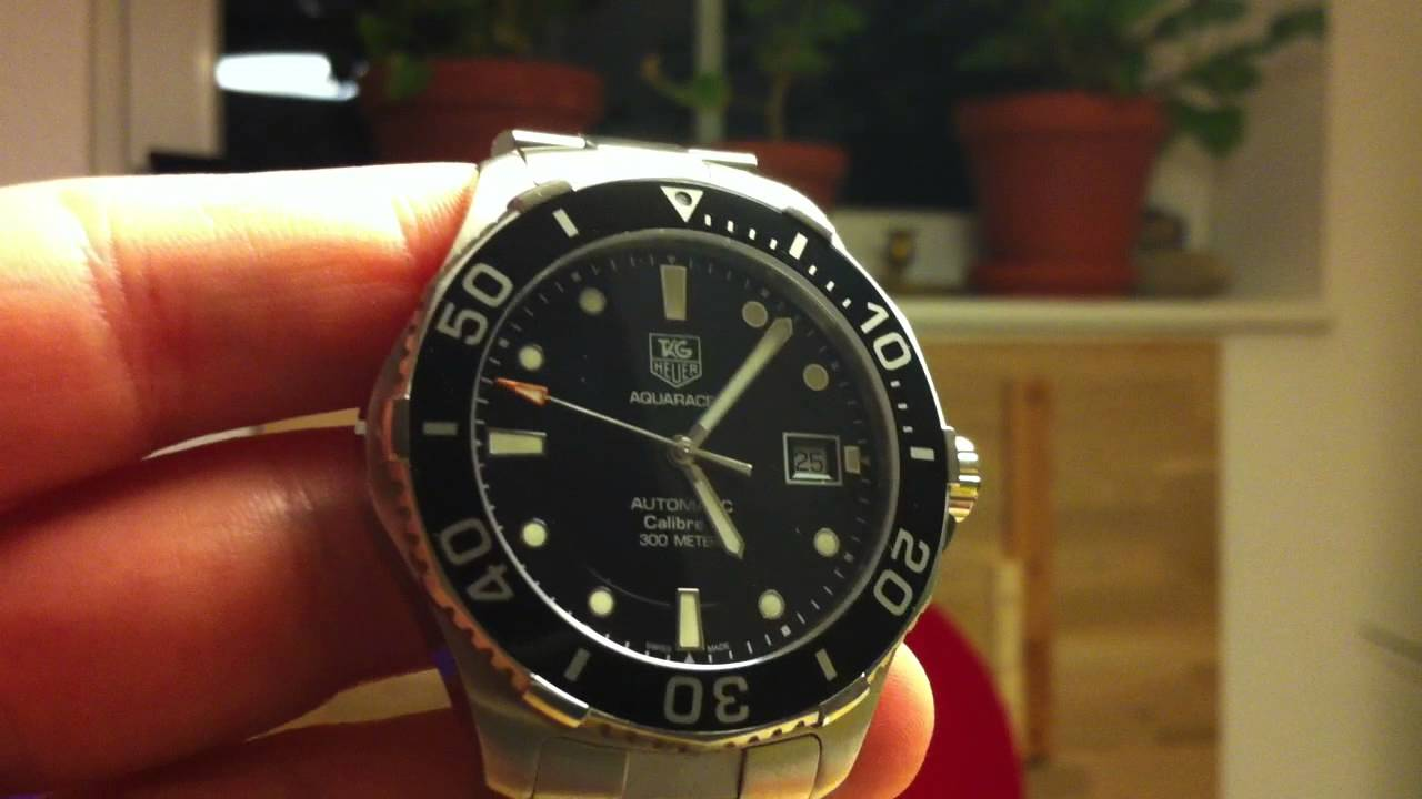 87ea31d11d9 TAG Heuer Aquaracer Automatic 300M Calibre 5 WAN2110.BA0822 - YouTube