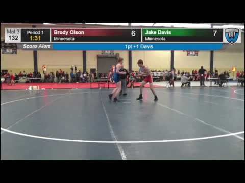 2129 Cadet Men 132 Brody Olson Minnesota vs Jake Davis Minnesota 7859829104