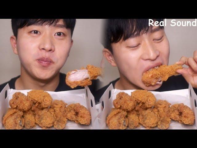 Bbq Crispy Fried Chicken Asmr Eating Sounds Mukbang Eating Show